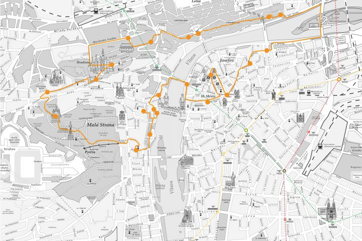 Map of the Historical City Tour